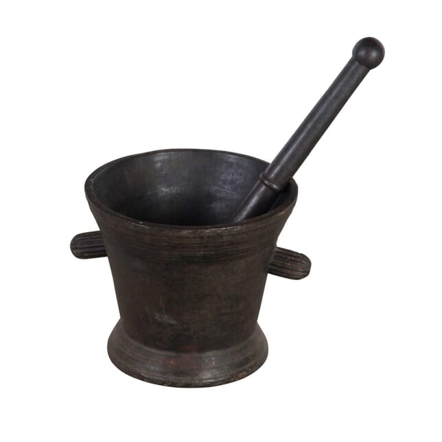 18th Century Iron Pestle and Mortar DA9055740