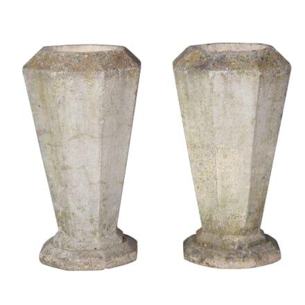 Pair of Composite Stone Planters GA3757071