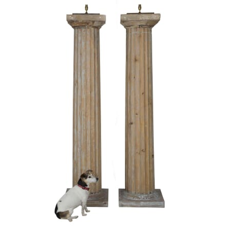 Giant 19th Century Column Lamps LF015302