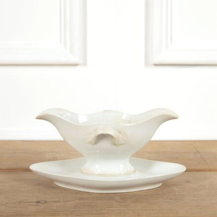 White French Sauce Boat with Drip Plate DA4461548