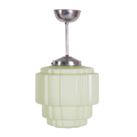 Art Deco Green Opaline Glass Ceiling Light LC2859602