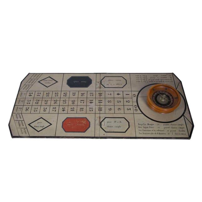 French Roulette Board and Wheel DA449642