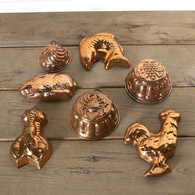 A Selection Of Seven Decorative Victorian Copper Moulds DA597078