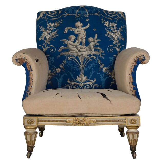 Early 19th Century English Carved Wood Armchair CH239233