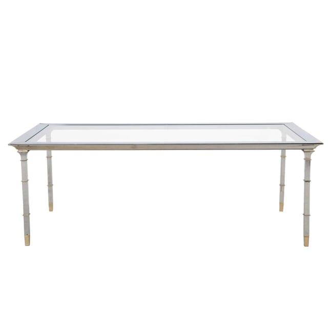 Chrome and Gilded Metal Table TC3012187