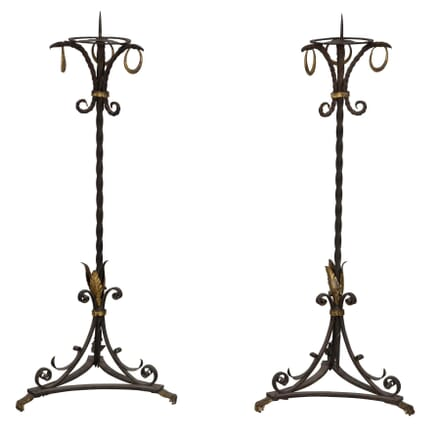 A Pair of Wrought Iron Prickets LT234551