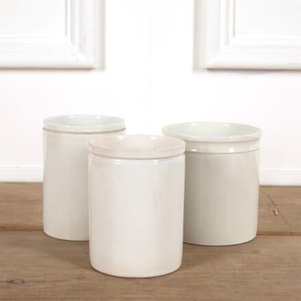 Tall White Porcelain Jam Jars DA4461566
