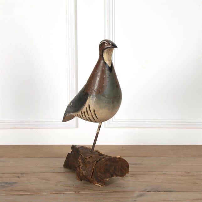 Painted Toleware Large Sized Decoy Gamebird DA5162666