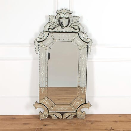 Large Venetian Mirror with Floral Details MI5961460