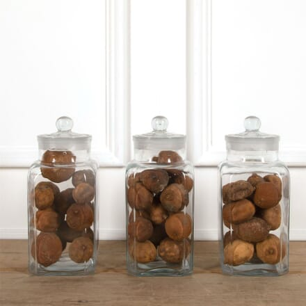 Set of Three Large French Glass Storage Jars DA4461516