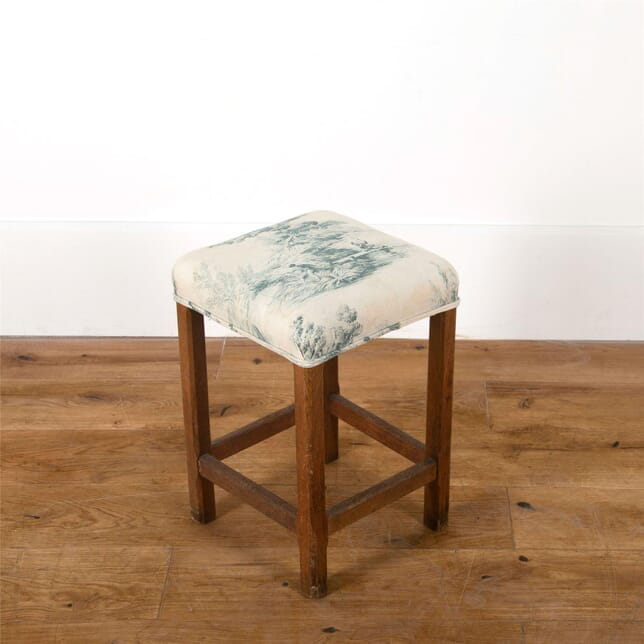 Toile de jouy upholstered stool ST287300