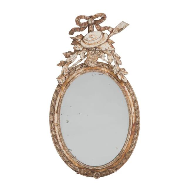 18th Century French Oval Wall Mirror MI2010555