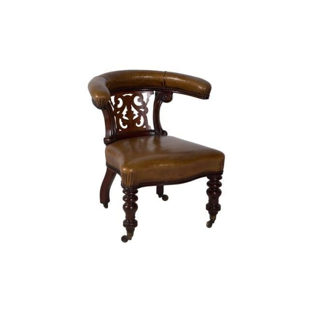 19th Century English Leather Desk Chair CH234568