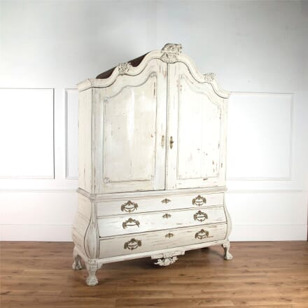 18th Century Dutch Linen Press Cupboard CU4561925