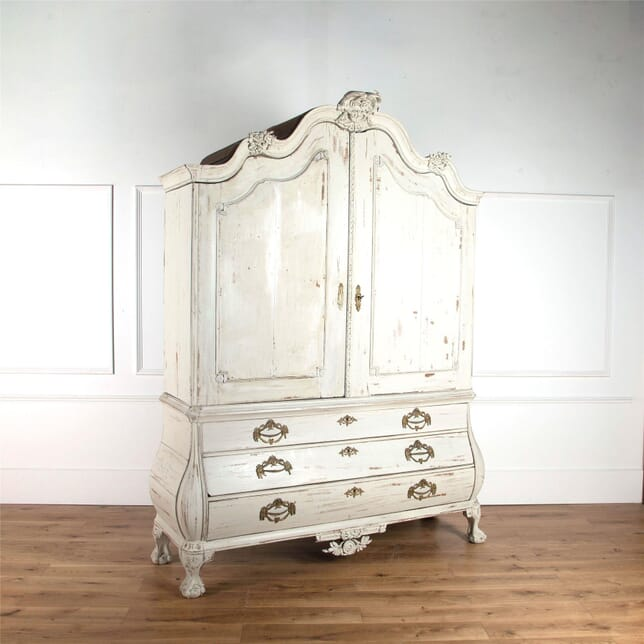 18th Century Dutch Linen Press Cupboard CU4561925