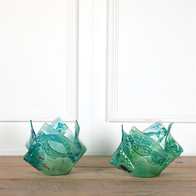 Glass vases. English Circa 2000 DA1662245