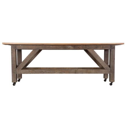 English Oak and Pine Work Table TD369254
