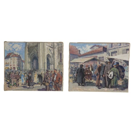 Pair of French 'Plein Air' Paintings WD0959258