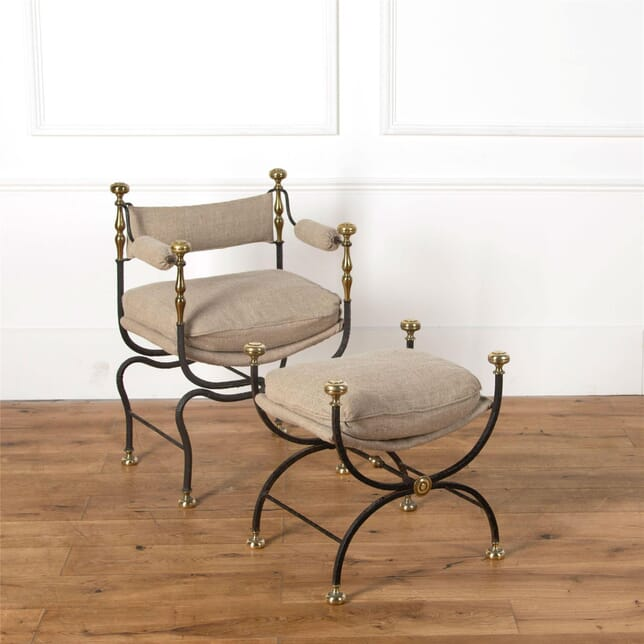 Savonarola and Curule Chair and Stool CH437497