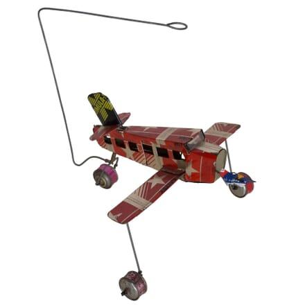 African Tin Toy Aeroplane DA407073