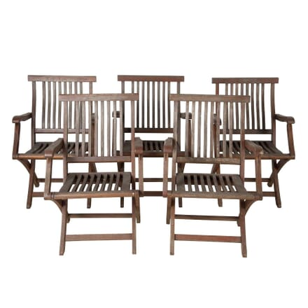 Five Italian Garden Chairs GA9060455
