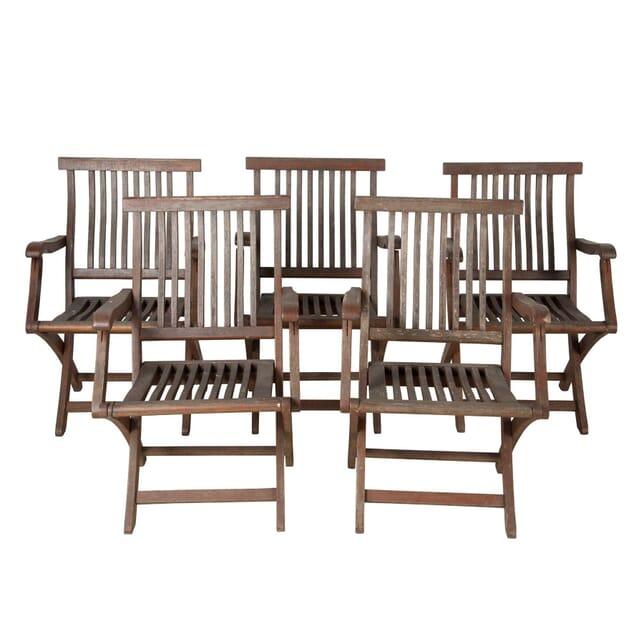 Five Italian Garden Chairs GA9060455