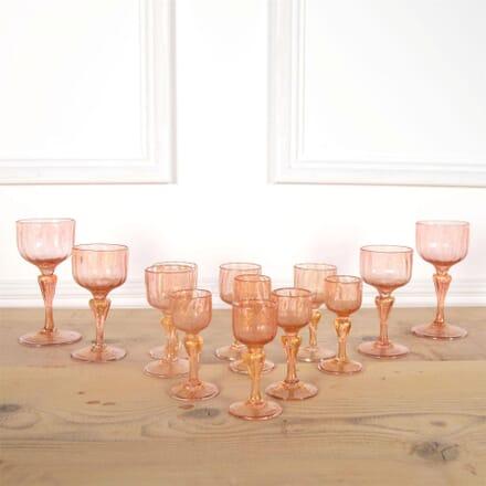 Pink And Gold Salviati Venetian After Dinner Glasses Set DA5861022