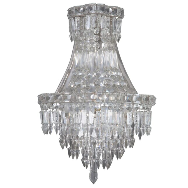 Pair of Crystal Wall Lights c.1930 LW213473