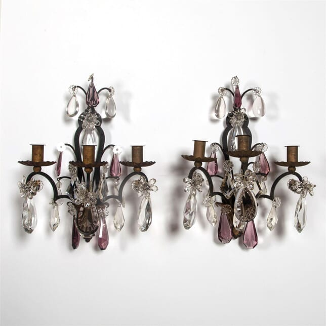Pair of Iron and Crystal Appliques LW1561847