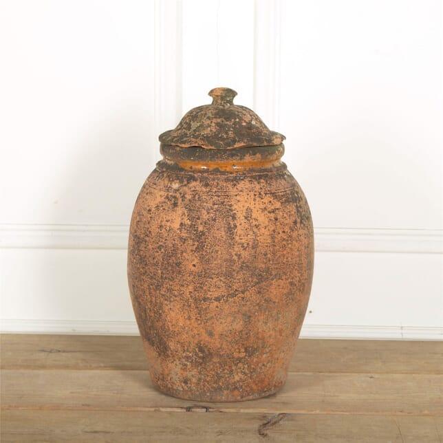 19th Century Terracotta Pot With Lid GA907676