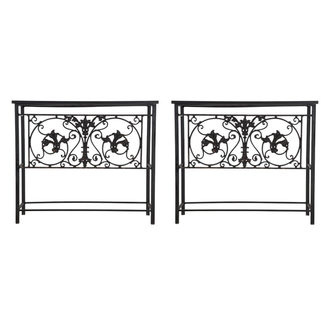 Pair of Wrought Iron Console Tables CO135962