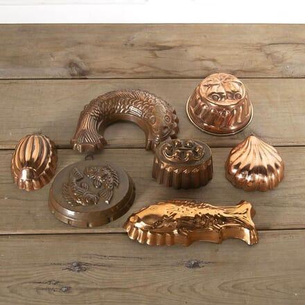A Selection Of Seven Decorative Victorian Copper Moulds DA597079
