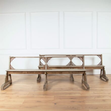 Pair of 19th Century Silvered Oak Benches SB4561096