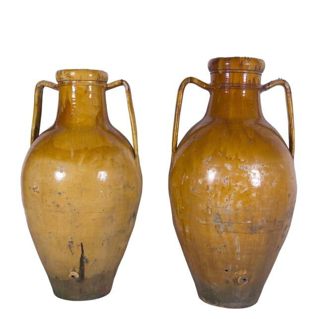 Huge Pair of French Terracotta Olive Oil Urns GA4560223