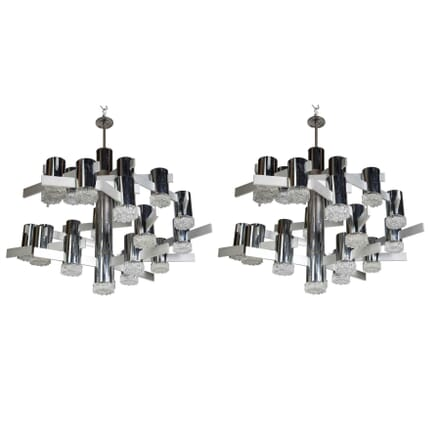 Pair of Sciolari Chandeliers LC0112172