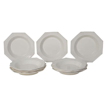 19th Century Hexagonal Creamware Bowls DA0110320