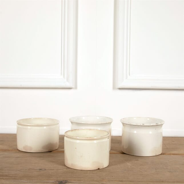 Medium French White Porcelain Pate Jars DA4461567
