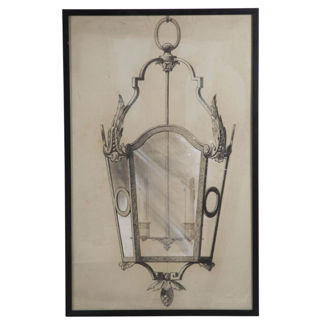 Charcoal Drawing of a Lantern WD208913