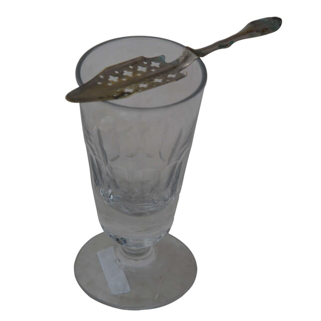 French Absinthe Glass and Spoon DA4454953