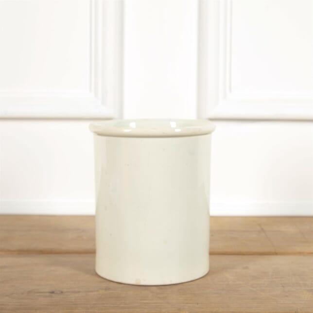 White French Porcelain Straight Sided Jar DA4461549