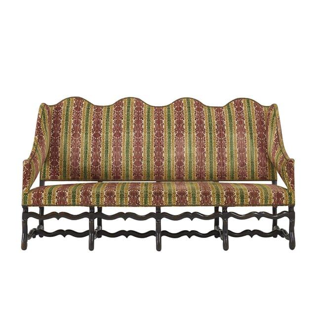 18th Century Os de Mouton French Walnut Sofa SB067407