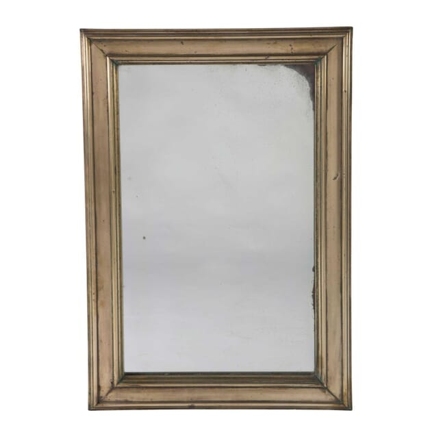 19th Century Brass Bistro Mirror MI1555440