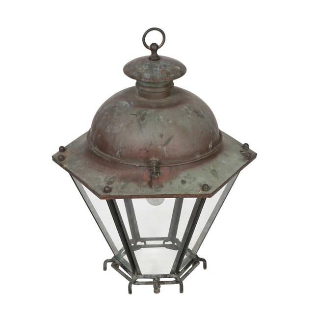Copper Lantern with Glazed Panels LL5558007
