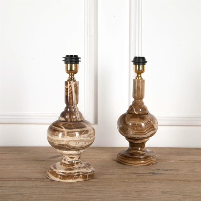 Pair Of Solid Onyx Stone Table Lamps LT5862044