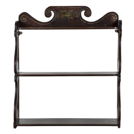 19th Century Faux Rosewood Hanging Shelves OF995617