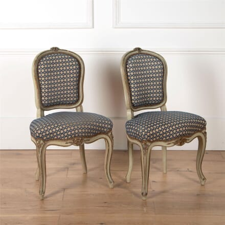 Pair of French Original Painted Chairs CH3562449