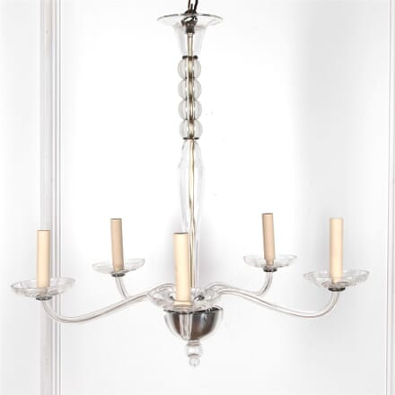 1970's Italian Six Arm Glass Chandelier LC2162114