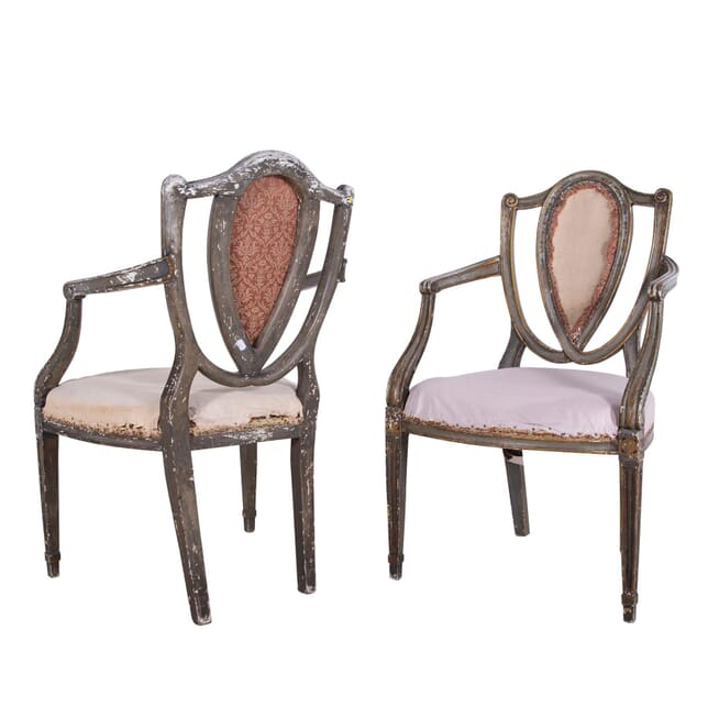 19th Century Painted and Decorated Armchairs CH1060313