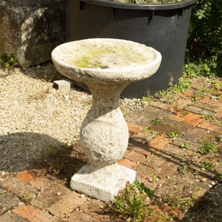 Stone Birdbath on Baluster Pedestal GA197643
