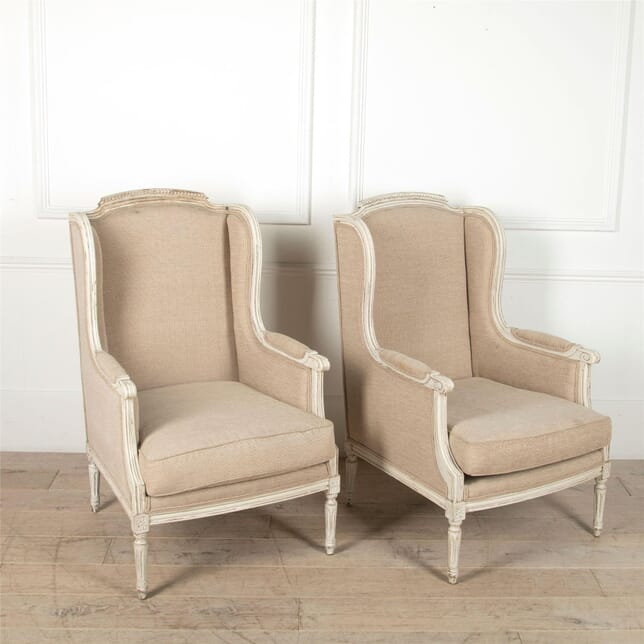 French Wing Back Bergere Armchairs CH4861674